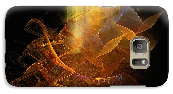 Galaxy Case featuring the digital art Soul Flower by Sipo Liimatainen