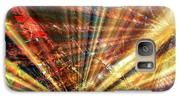 Galaxy Case featuring the painting Sound Of Light by Kathy Sheeran
