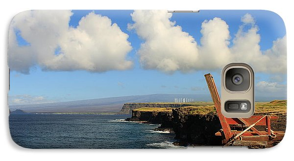 Galaxy Case featuring the photograph South Point Hawaii Boat Hoist by Scott Rackers