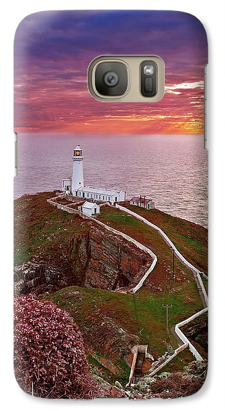 Galaxy Case featuring the photograph South Stack Lighthouse by Beverly Cash