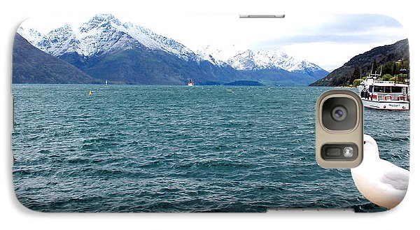 Galaxy Case featuring the photograph Southern Alps Across Lake Wakatipu by Laurel Talabere