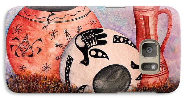 Galaxy Case featuring the painting Southwest Pottery by Judy Filarecki