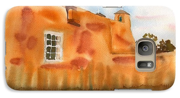 Galaxy Case featuring the painting Southwest Walled Monastery by Sharon Mick