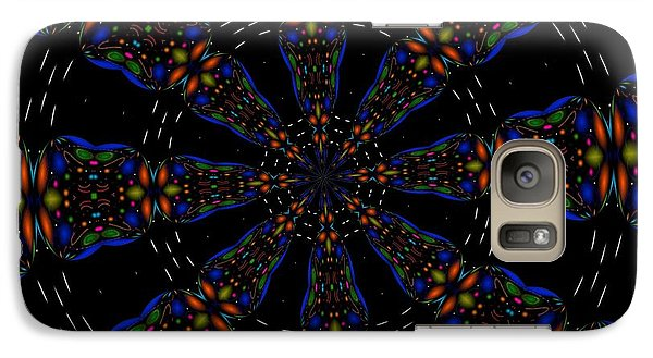 Galaxy Case featuring the digital art Space Flower by Alec Drake