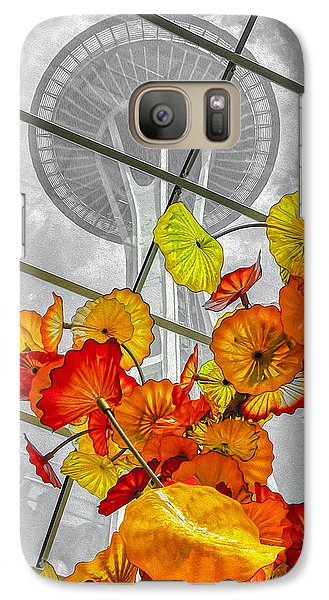 Galaxy Case featuring the photograph Space Needle In Review by Ken Stanback