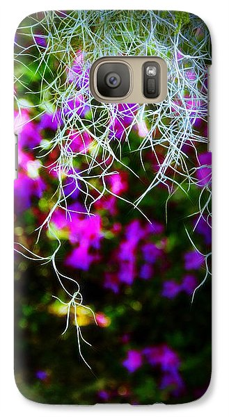Galaxy Case featuring the photograph Spanish Moss And Azaleas by Judi Bagwell
