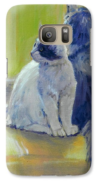Galaxy Case featuring the painting Spanky And Booboo by Donald Maier