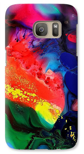 Galaxy Case featuring the painting Speak For Yourself by Christine Ricker Brandt