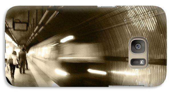 Galaxy Case featuring the photograph Speeding Train by Marta Cavazos-Hernandez