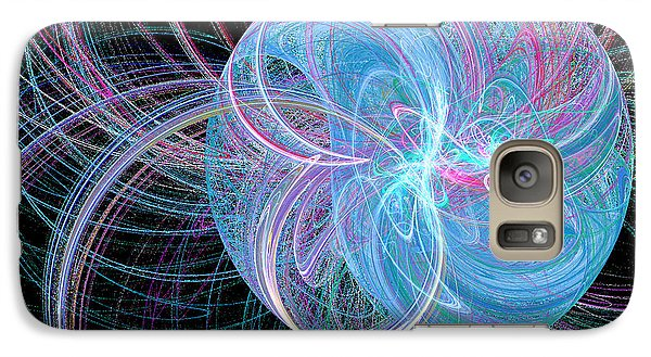 Galaxy Case featuring the digital art Spherical Symphony by Kim Sy Ok