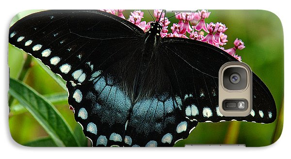 Galaxy Case featuring the photograph Spicebush Swallowtail Din038 by Gerry Gantt