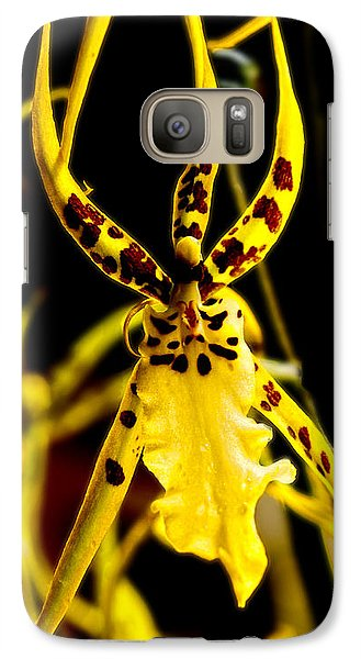 Galaxy Case featuring the photograph Spider Orchid by Barbara Middleton