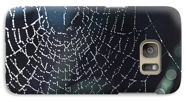 Galaxy Case featuring the photograph Spiderweb Blues by Artist and Photographer Laura Wrede