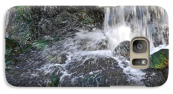Galaxy Case featuring the photograph Splashing Water Falls by Kirsten Giving