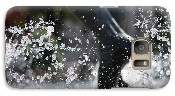 Galaxy Case featuring the photograph Sploosh by Stephanie Nuttall