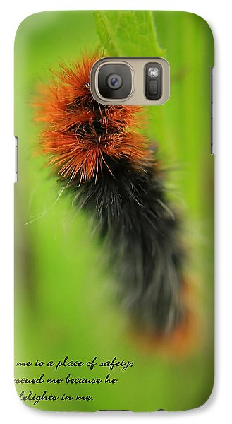 Galaxy Case featuring the photograph Spring Caterpillar by Tyra  OBryant