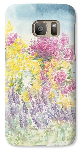 Galaxy Case featuring the painting Spring Garden by Jane  See