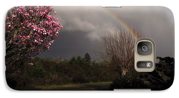 Galaxy Case featuring the photograph Spring Rainbow by Katie Wing Vigil