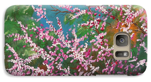 Galaxy Case featuring the painting Springs Blossoms  by Dan Whittemore