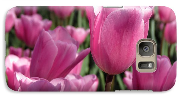 Galaxy Case featuring the pyrography Springtime Impression Tulips by Darleen Stry