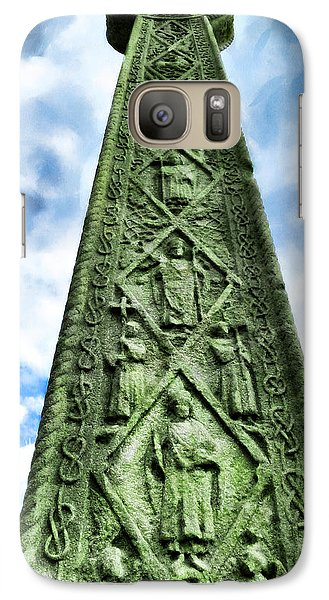 Galaxy Case featuring the photograph St Augustines Cross Close Up by Steve Taylor
