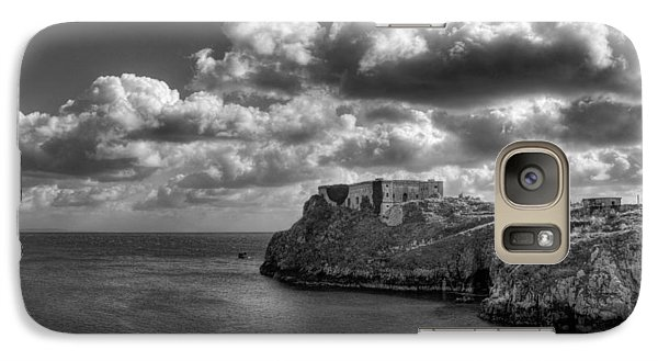 Galaxy Case featuring the photograph St Catherines Rock Tenby by Steve Purnell