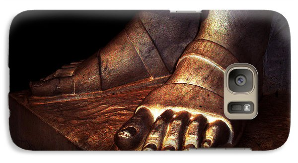 Galaxy Case featuring the photograph St. Francis Of Assisi's Sacred Feet by Susanne Still