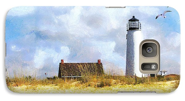 Galaxy Case featuring the photograph St. George Island Lighthouse by Rhonda Strickland
