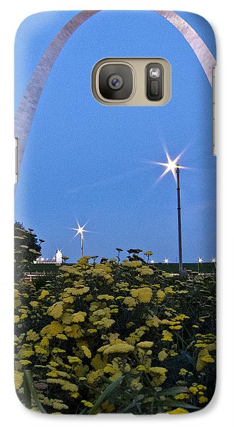 Galaxy Case featuring the photograph St Louis Arch With Twinkles by Nancy De Flon