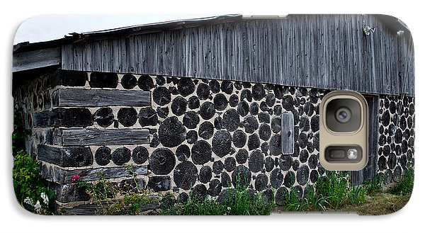 Galaxy Case featuring the photograph Stacked Block Barn by Barbara McMahon