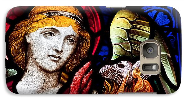 Galaxy Case featuring the photograph Stained Glass Angel by Verena Matthew