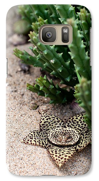 Galaxy Case featuring the photograph Stapelia Variegata by Laura Melis