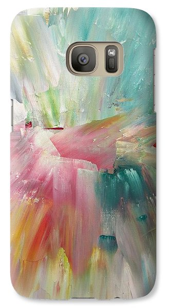 Galaxy Case featuring the painting Star by Kathy Sheeran