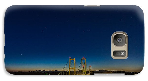 Galaxy Case featuring the photograph Star Night Over The Narrows by Ken Stanback
