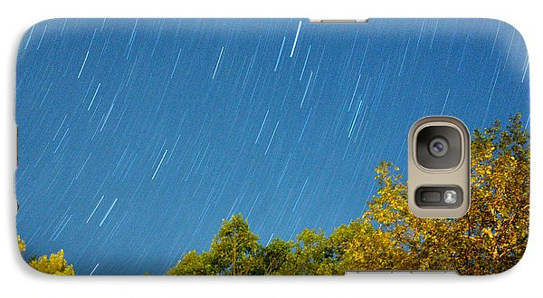 Galaxy Case featuring the photograph Star Trails On A Blue Sky by Kay Lovingood
