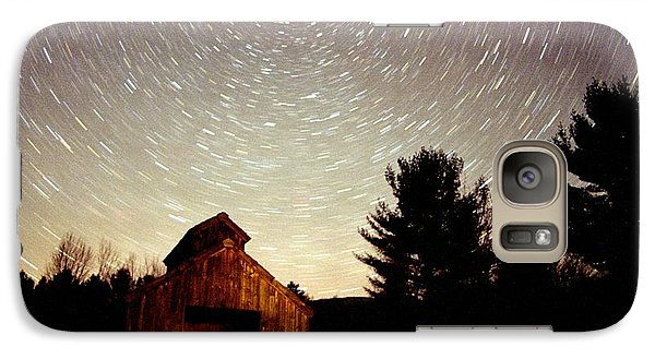 Galaxy Case featuring the photograph Star Trails Over Sugar Shack by Rick Frost