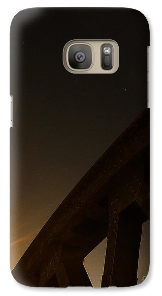 Galaxy Case featuring the photograph Starry Night On Sunset Bridge by Andy Prendy