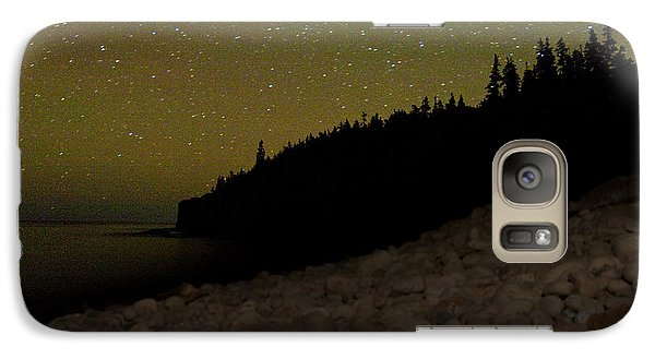 Galaxy Case featuring the photograph Stars Over Otter Cliffs by Brent L Ander