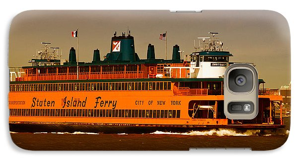 Galaxy Case featuring the photograph Staten Island Ferry by Nancy De Flon