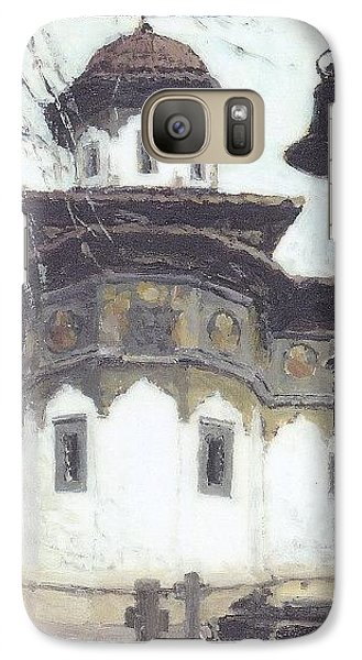 Galaxy Case featuring the painting Stavropoleos Church by Olimpia - Hinamatsuri Barbu