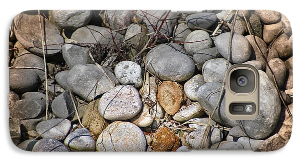 Galaxy Case featuring the photograph Sticks And Stones Can Hurt by Cathy  Beharriell