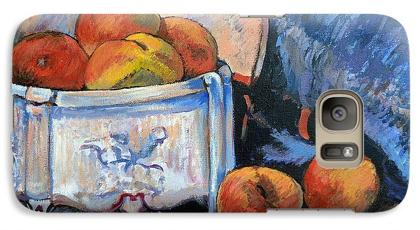 Galaxy Case featuring the painting Still Life Peaches by Tom Roderick