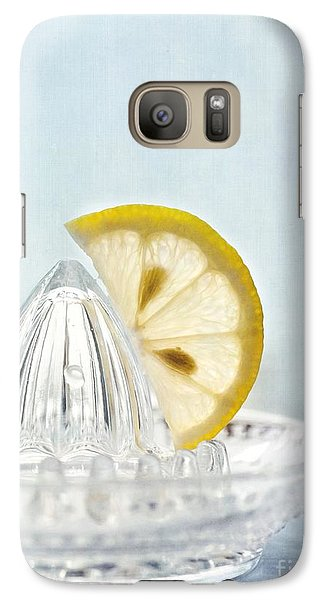 Still Life With A Half Slice Of Lemon Galaxy Case by Priska Wettstein