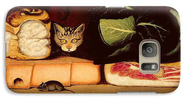 Still Life With Cat And Mouse Galaxy Case by Anonymous