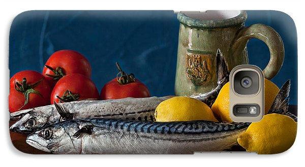 Still Life With Mackerels Lemons And Tomatoes Galaxy S7 Case by Juan Carlos Ferro Duque