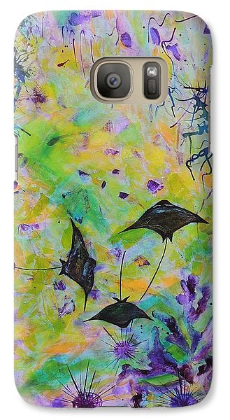 Galaxy Case featuring the painting Stingrays And Coral by Lyn Olsen