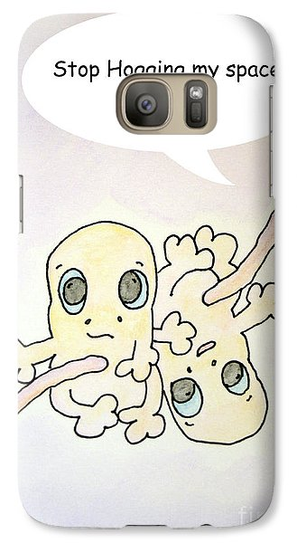 Galaxy Case featuring the painting Stop Hogging by Cathy Cleveland