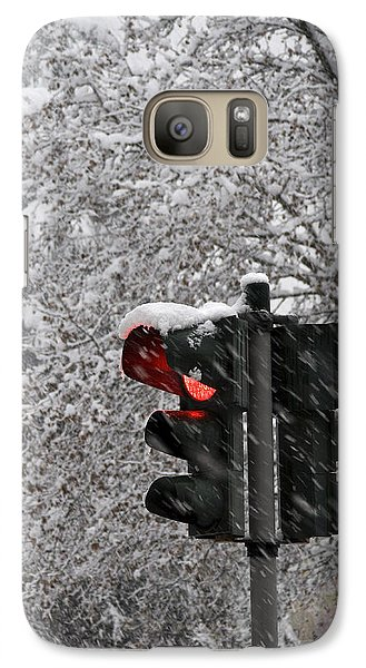 Galaxy Case featuring the photograph Stop The Snow by Raffaella Lunelli