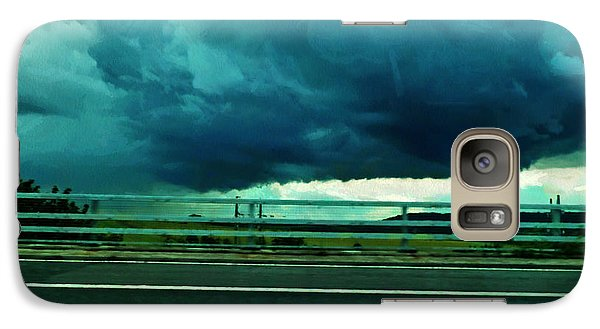 Galaxy Case featuring the digital art Storm Approaching  by Steve Taylor