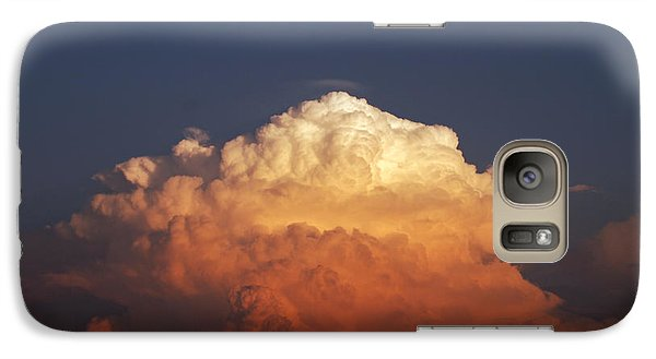 Galaxy Case featuring the photograph Storm Clouds At Sunset by Mark Dodd